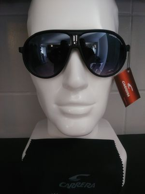 NEW WITH CASE ALL BLACK CARRERA SUNGLASSES. for Sale in Hazard, CA