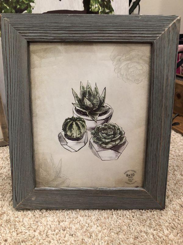 Succulent photo frame