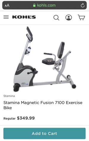 Stamina magnetic fusion 7100 Recumbent exercise bike for Sale in Goodyear, AZ