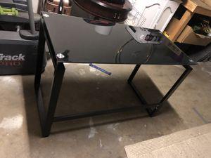 Black Glass Metal Desk for Sale in Tustin, CA