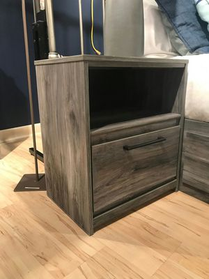 Ashley Furniture Gray Nightstand with USB Port for Sale in Fountain Valley, CA