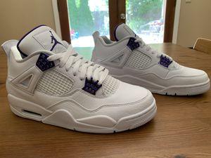 Jordan 4 retro metallic purple. Size 9 men's. for Sale in Portland, OR