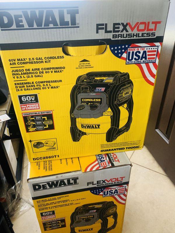 Dewalt 60v flex volt compressor with 60v large battery and fast charger new sealed