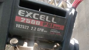 Excell 2500 pressure washer missing parts but runs for Sale in Cleveland, OH