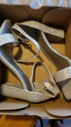 Silver heels for Sale in San Leandro, CA