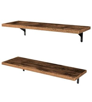 💥BRAND NEW Wall Mounted Floating Shelves, Set of 2, Display Ledge, Storage Rack for Room/Kitchen/Office - Retro Brown for Sale in Pittsburgh, PA