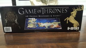GAME of THRONES 4D Puzzle of WESTEROS & ESSOS - 4D Cityscape (891 pieces for Sale in Oakley, CA