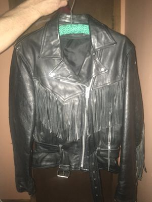 Leather fringed jacket for Sale in Independence, MO