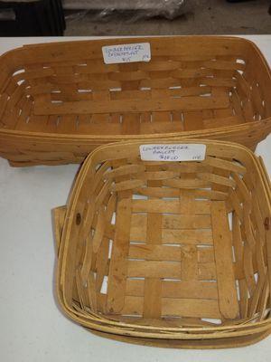 Longeberger baskets for Sale in Pekin, IL