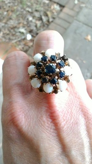 Vintage ring 14k gold.Opal and sapphire stones. missing one opal. for Sale in Manassas, VA