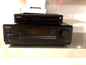 Onkyo Receiver HT-R340 with Surround K-lipsch woofer, 4 sourround and for Sale in Aventura, FL