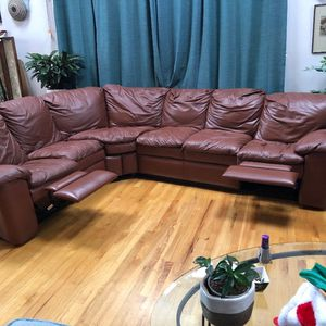 Free Leather 2 Recliner Sofa for Sale in Seattle, WA