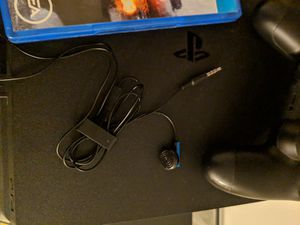 PS4 with games 1 control and headphones for Sale in Odenton, MD
