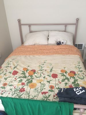 Full size bed frame + mattress for Sale in South San Francisco, CA