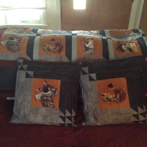 King size quilt with 2 pillows for Sale in Peoria, IL