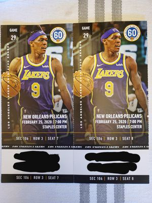 Los Angeles Lakers tickets for Sale in Long Beach, CA