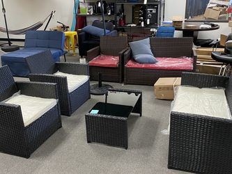 Brand New 4 PCs Wicker Patio Furniture Set Chair Sofa Table for Sale in Anaheim,  CA