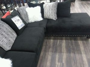 Jet Black Sectional Collection for Sale in Pompano Beach, FL
