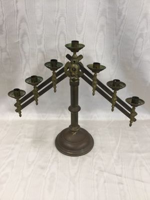 Antique Brass 7 Branch Adjustable Candelabra for Sale in Berkley, MI