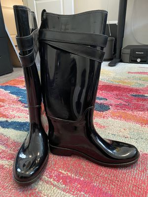 Coach Tall Black Rain Boots for Sale in Los Angeles, CA
