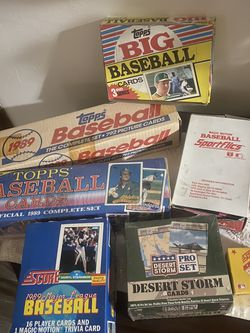 Baseball Card Boxes Over 30 Years Old for Sale in Porterville,  CA