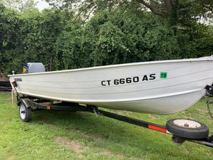 16 FT Aluminum Boat - 40 HP for Sale in East Hartford, CT