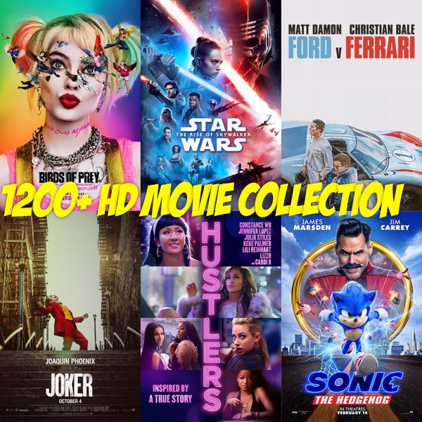 1250+ HD Movie Collection - Newest Releases and Classic Blockbusters