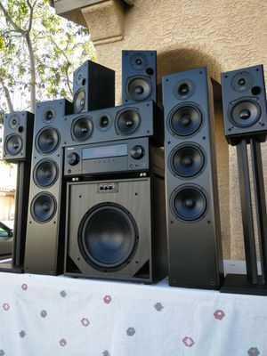 (Polk Audio)Models: T-50 Tower Speakers/T-15 Bookshelves/T-30 Center/High End SpeakerCraft BX12' Sub/Pioneer VSX-1123 Receiver/Stands Not Included for Sale in Las Vegas, NV