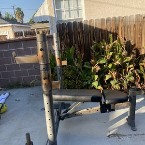 HEAVY DUTY OLYMPIC WEIGHT BENCH PRESS \SQUAT RACK for Sale in Buena Park, CA