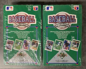 2 1990 Upper Deck Sealed Baseball Card Boxes 72 Unopened Packs Sosa Rookie? for Sale in Brea, CA