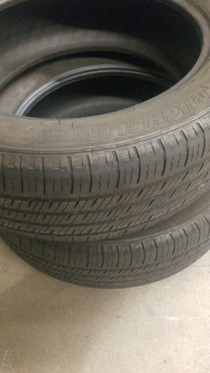 MICHELIN PROMACY MXM4 235/55R19 taken off RX350 very good condition %45 - %50 life for Sale in Glendora, CA