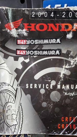 2004-2007 Honda CRF80F CRF100F Motorcycle Shop Service Repair Manual paper for Sale in Lakewood, CA