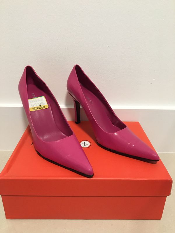 Nine West pointed toe hot pink heels