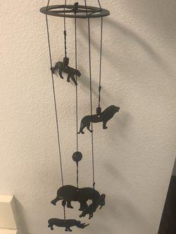 Safari inspired brass wind chime for Sale in Glendale,  CA