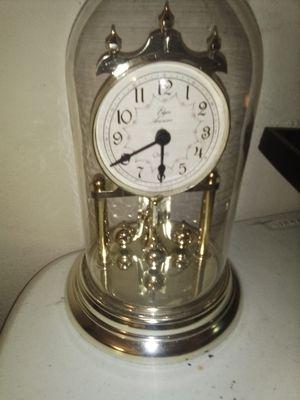 "Vintage Elgin Quartz Anniversary Clock Glass Dome 9"" Tall for Sale in Baltimore, MD"