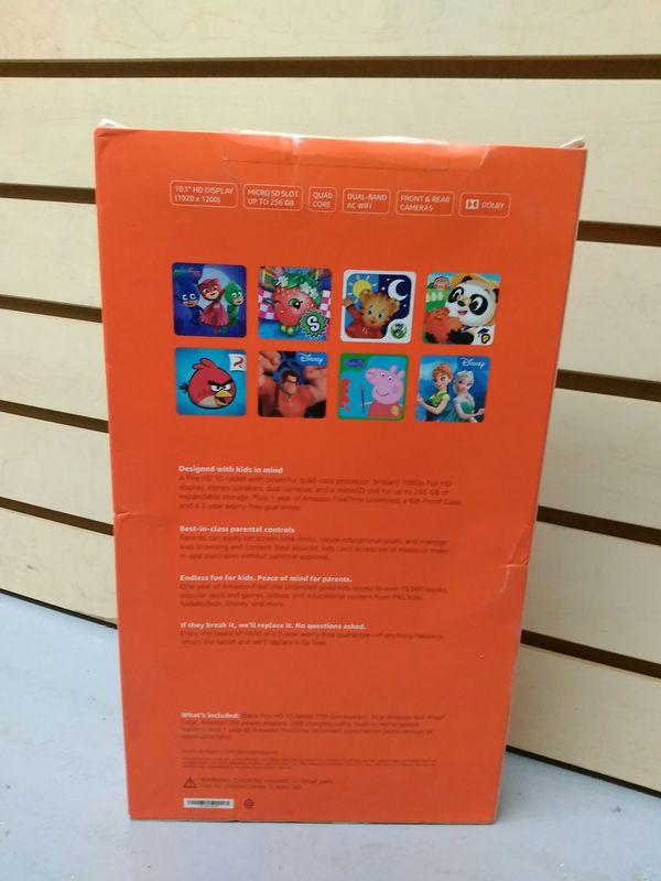 $199.99 - NEW AMAZON FIRE HD 10 Kids Ed. - BLUE