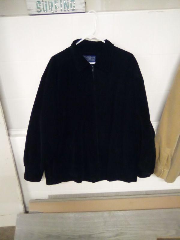 Shaverlake Men's Black Corduroy Jacket Size XL