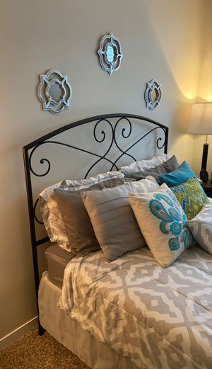 Metal Headboard and Bed Frame - Queen for Sale in Mountain View, CA