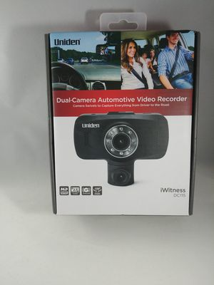 Uniden Dash Cam 1080P HD Dual Camera Front And Rear View Cars Mount Video Record for Sale in Tacoma, WA