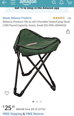 New camp stool and portable toilet for Sale in Phoenix, AZ