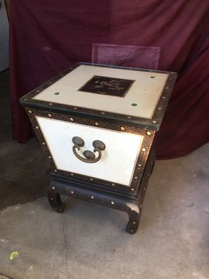 Antique ice chest storage table for Sale in San Francisco, CA