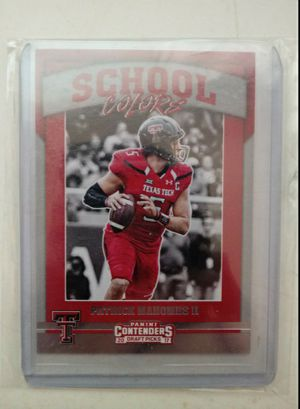 Patrick Mahomes Rookie Card Mint $150 Pick Up $175 Shipped through cash app or pay pal for Sale in Claremont, CA