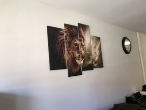 Beautiful Lion theme wall art for sale for Sale in Arlington, VA