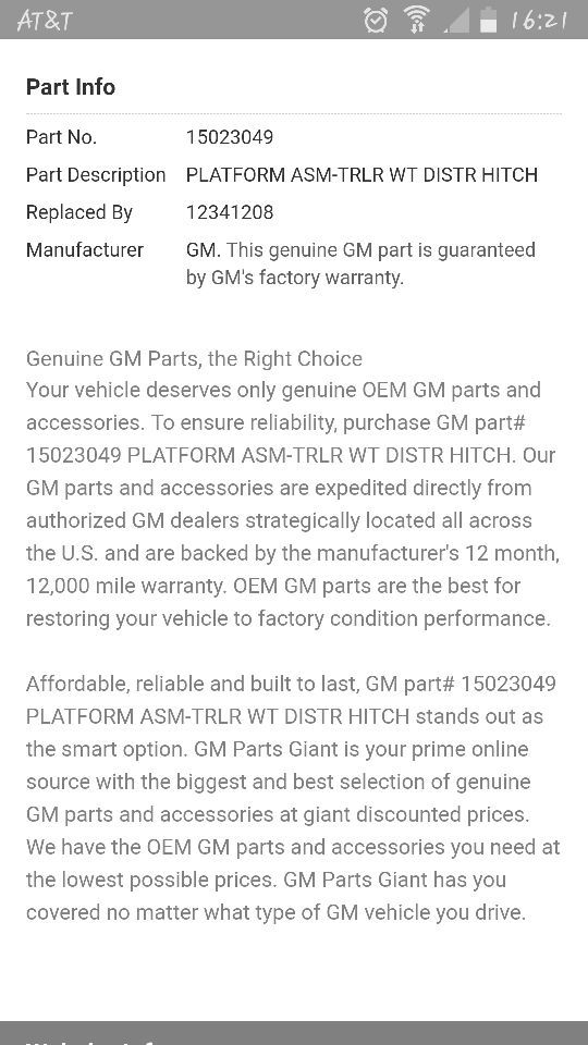 Gm Parts Giant >> Gm Hitch Receiver For Sale In Stockton Ca Offerup