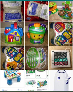 Toys fisher price vtech leap frog Ect let me know the item and I will give you an amazing price also have backyard toys for Sale in Tempe, AZ