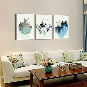 Abstract Mounta Daytime Canvas Wall Art Paintings Abstract Geometry Wall Artwork Living Room Bedroom Decoration Panels Home for Sale in Marquette, MI