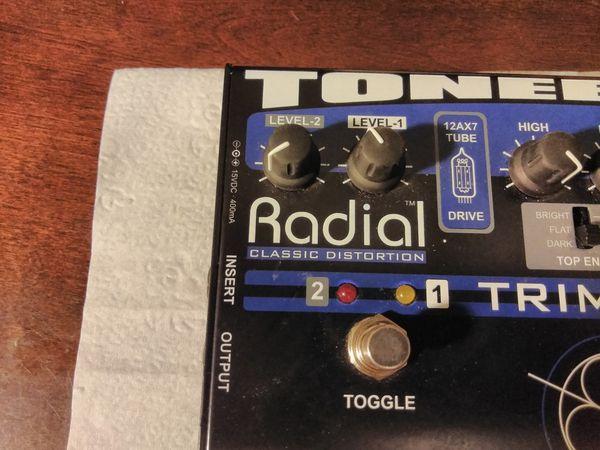 Radial tonebass trimode guitar Distortion