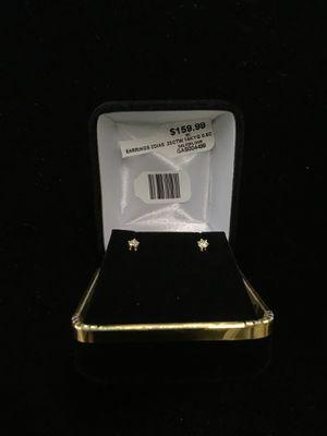 Women's earrings - 14K, weight: .6 DWT - 2 diamonds .2 CTW for Sale in Bakersfield, CA