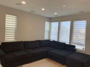 Large Couch with Deep Seating +plus ottoman for Sale in San Jose, CA