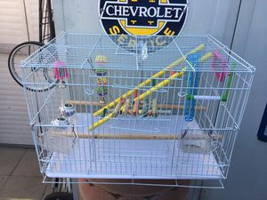 Extra nice bird cage with loads of accessories for Sale in Glendora, CA